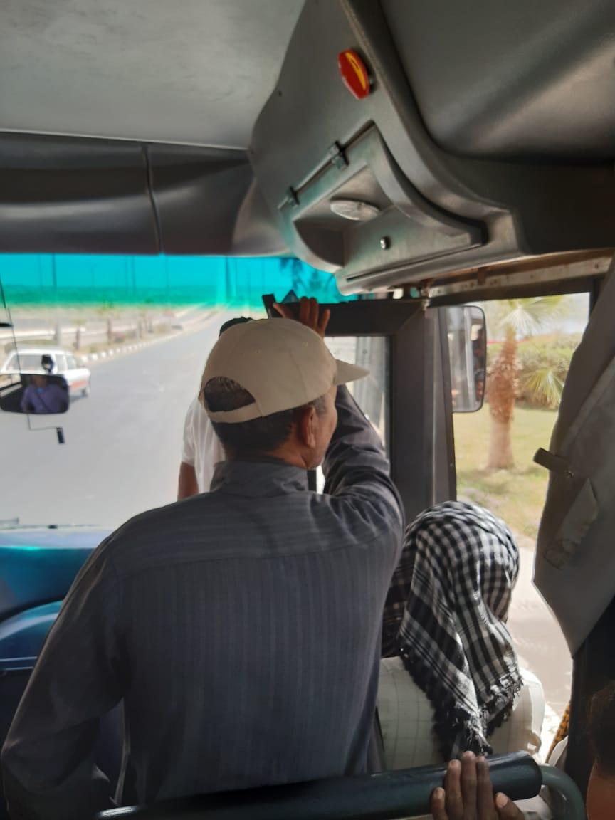 زحام وسائل النقل بمدينة أسوان الجديدة (2)