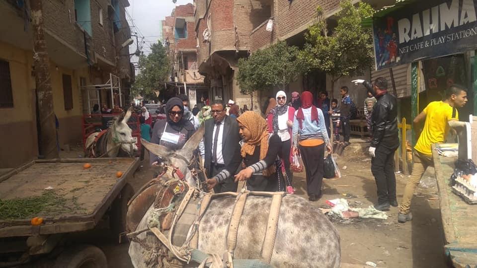رفع السوق بمدينة قليوب