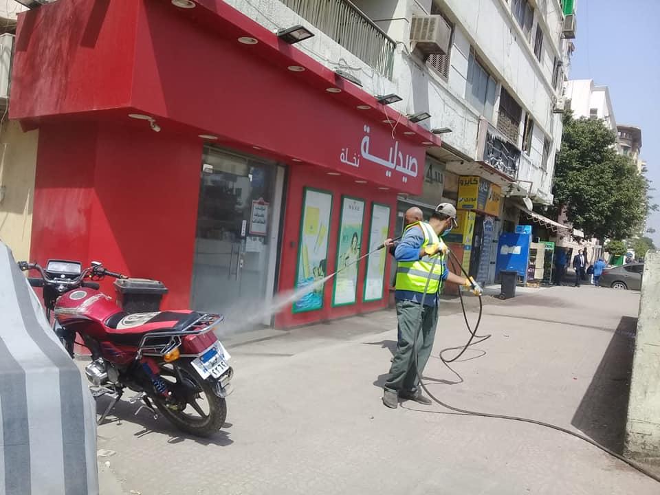 تعقيم شوارع القاهرة (3)