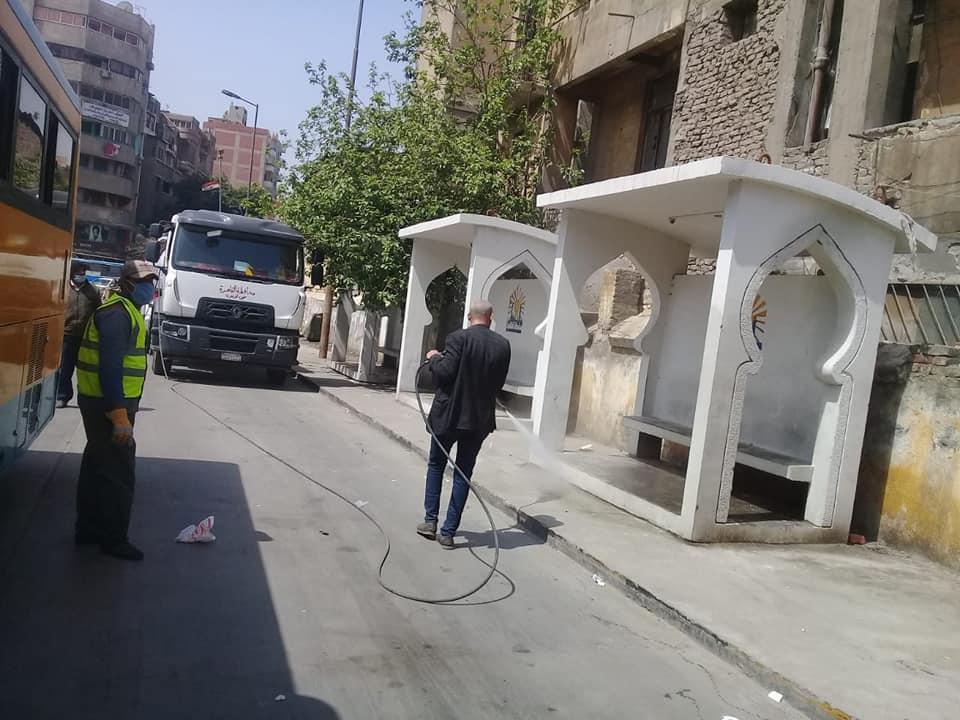 تعقيم شوارع القاهرة (5)