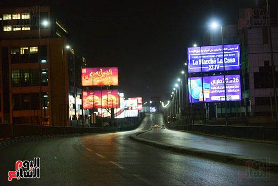 شوارع القاهرة خالية من المارة