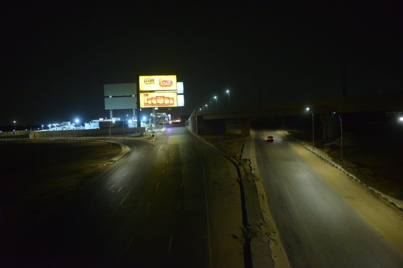 شوارع التجمع بدون مارة