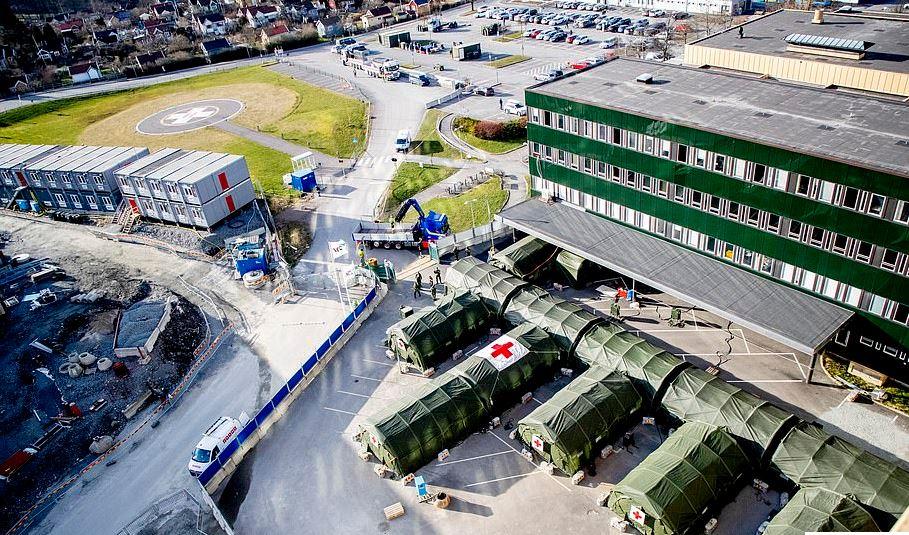 صورة جوية من مستشفى بالسويد