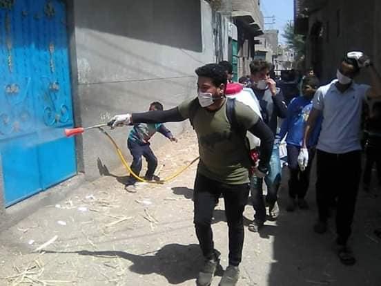 شباب قرى ابوتشت وفرشوط ينظمون حملات تعقيم وتوعية