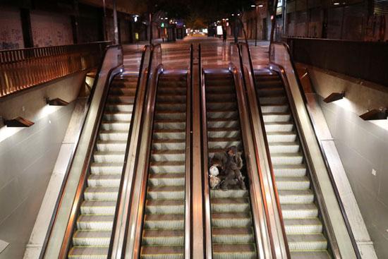 مواطن يصعد على السلالم المتحركة  (1)