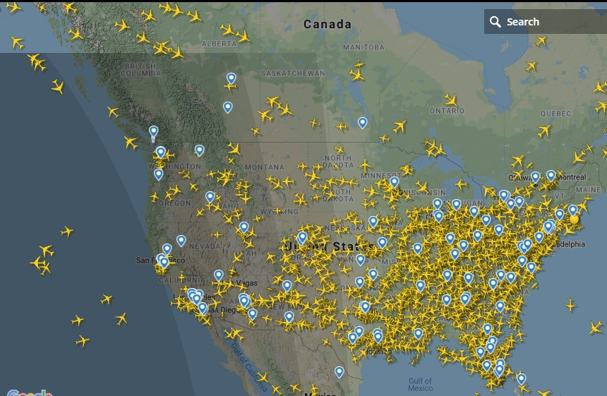 حركة الطيران فى أمريكا