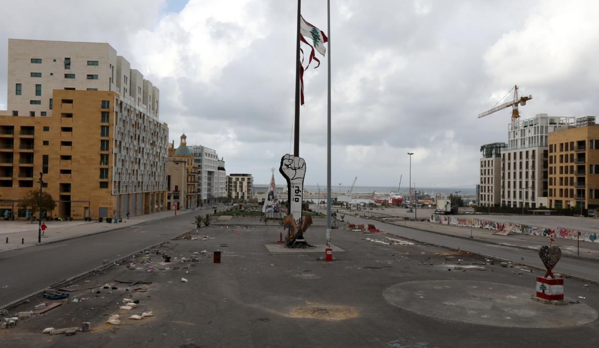 1655352-وسط-بيروت-عقب-ازالة-الخيام-منه