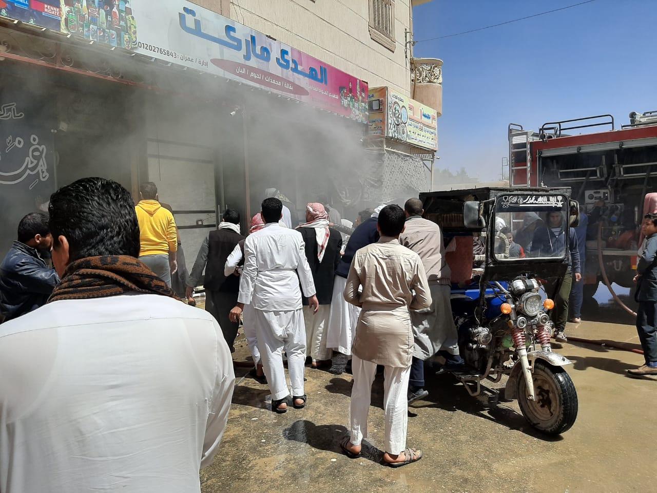 إخماد حريق نشب في أحد المحلات بمدينة الضبعة  (4)