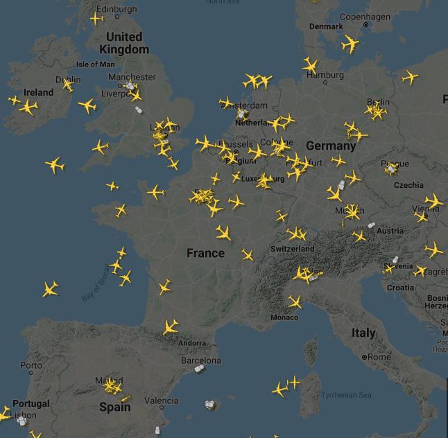 حركة الطيران فى أوروبا يوم 28 مارس