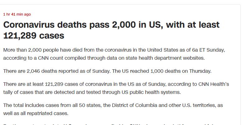 وفاة 200 شخص فى الولايات المتحدة الامريكية