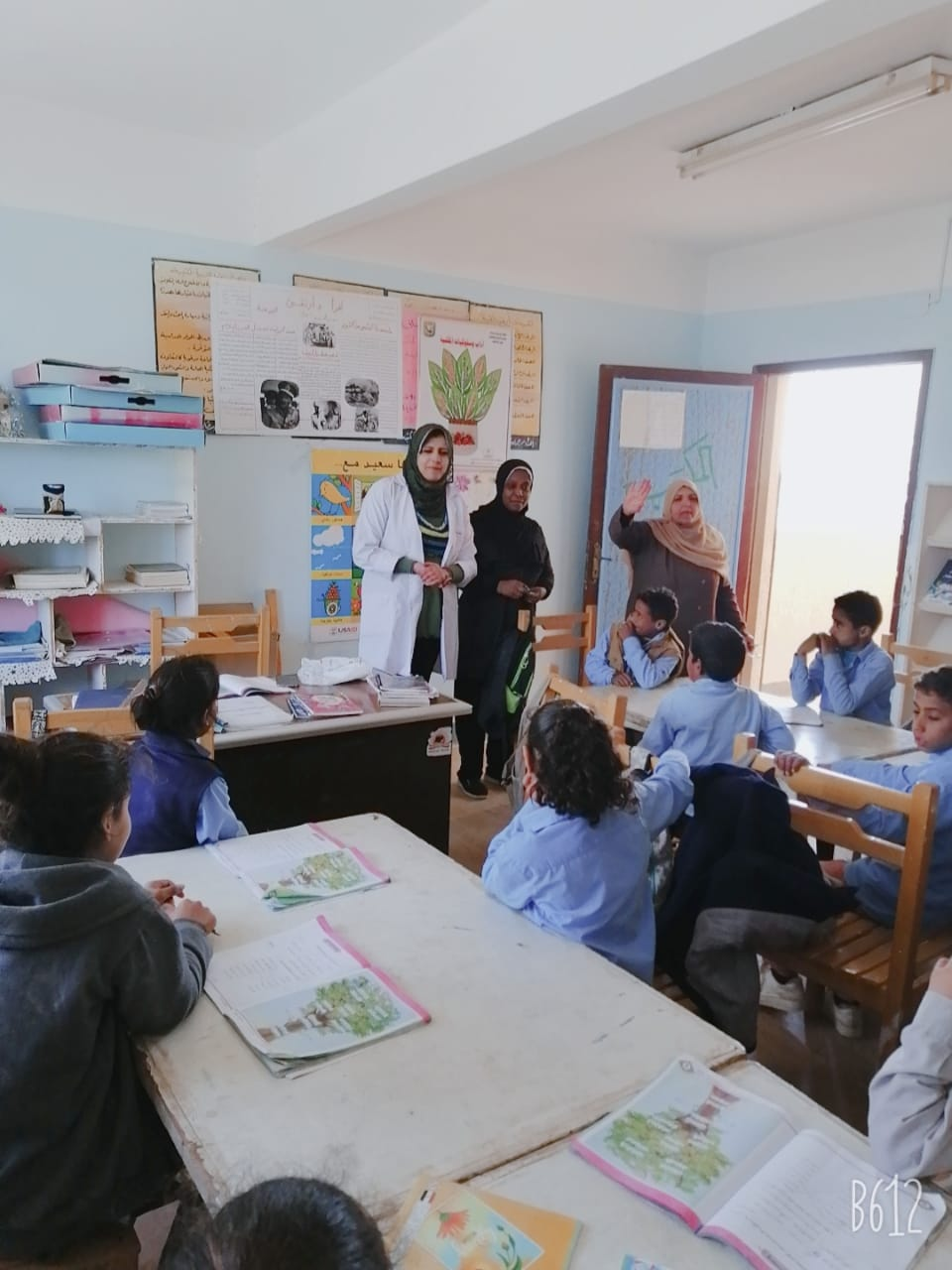 توعية التلاميذ بطرق الوقاية من كورونا