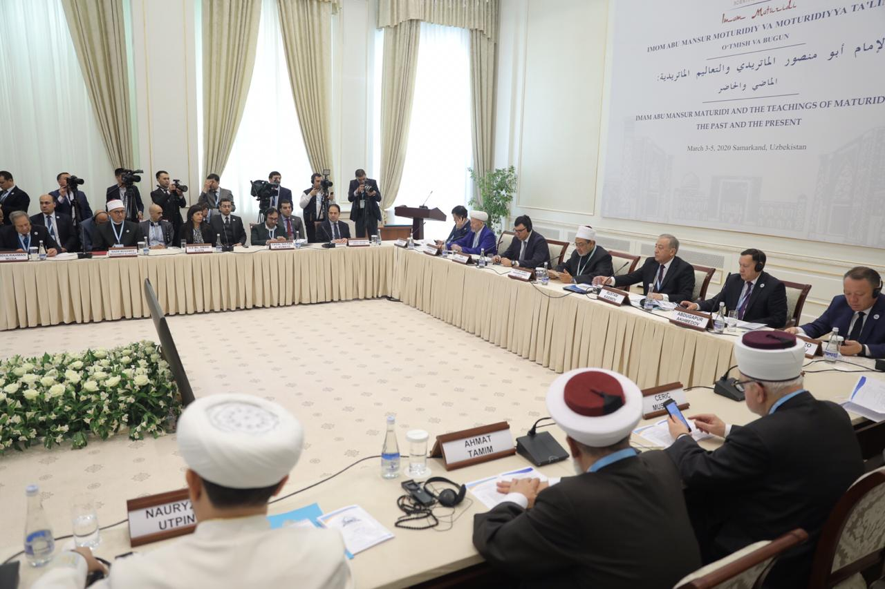 شيخ الأزهر بمؤتمر الماتريدي الدولي في أوزبكستان (5)