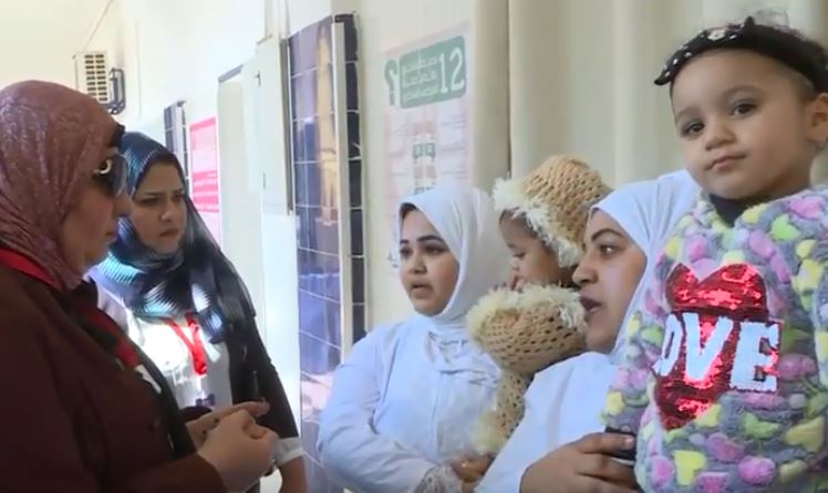 جانب من الزيارة لسجن النساء
