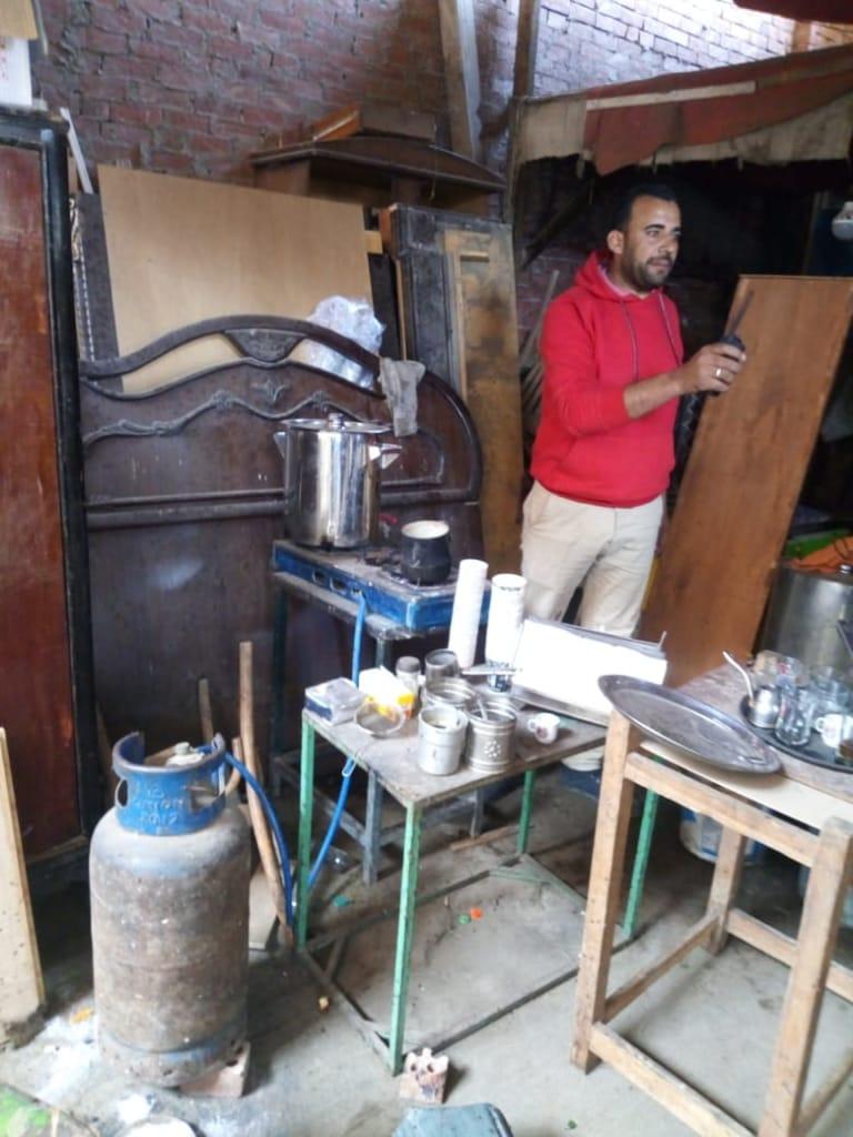 تحويل صالون حلاقة لمقهى بالجيزة (3)