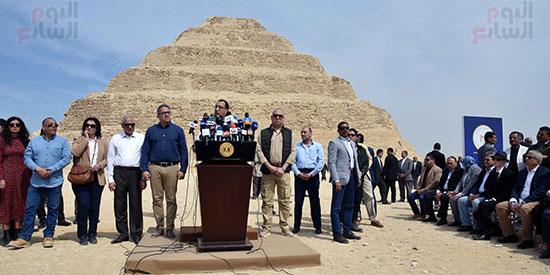 رئيس الوزراء يشهد افتتاح هرم زوسر