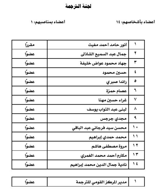 لجنة الترجمة