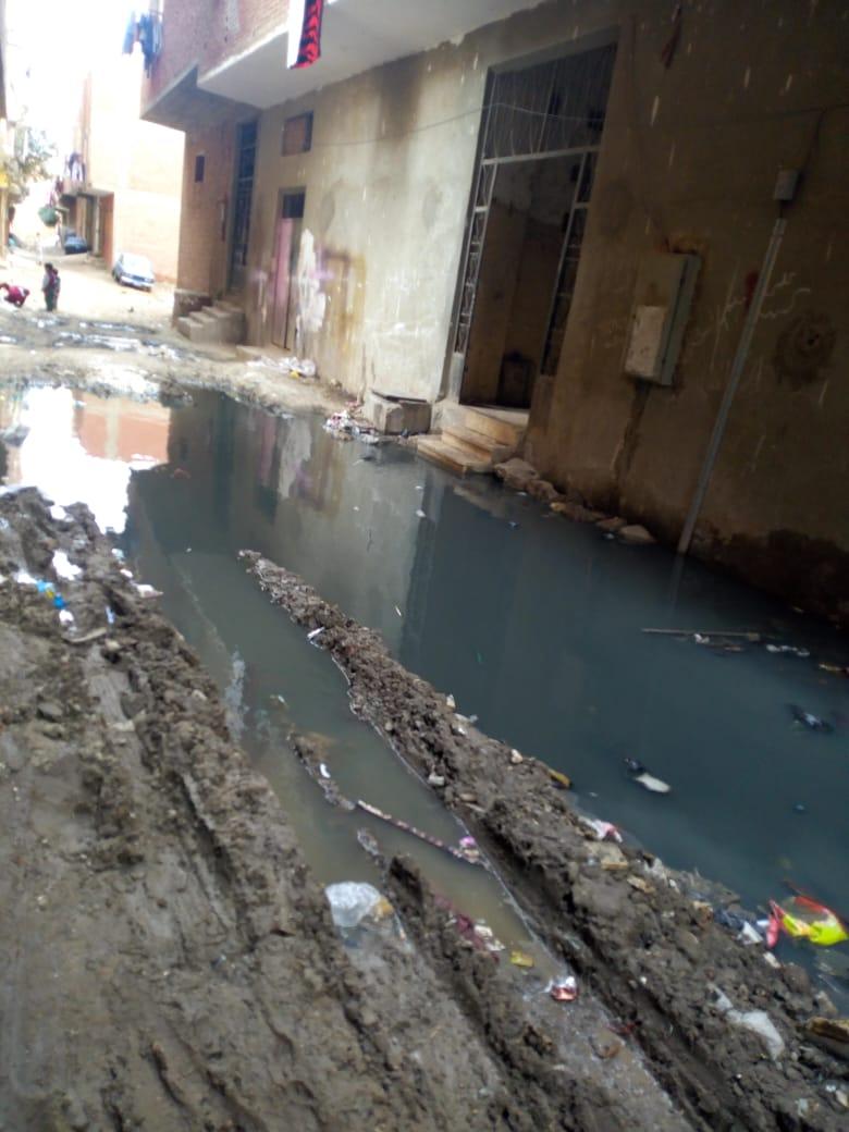 الصرف الصحى فى الشارع