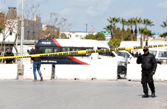 جانب من الشرطة التونسية