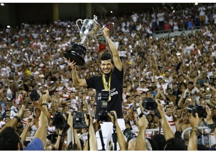 طارق حامد مع كأس مصر