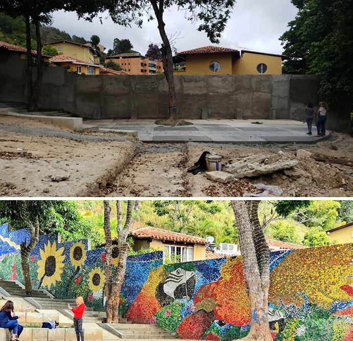 قبل وبعد الجدارية