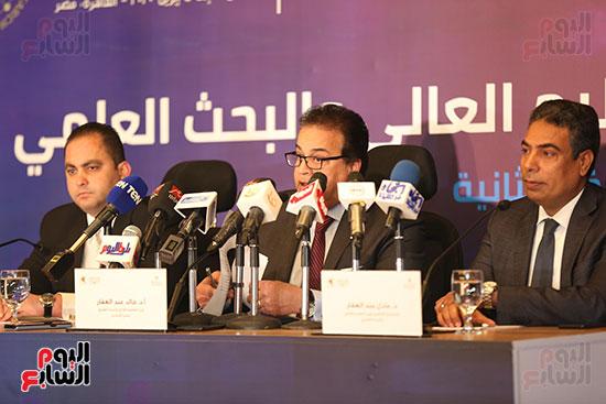 مؤتمر وزير التعليم العالى لإعلان استراتيجية المنتدى العالمى للتعليم (7)