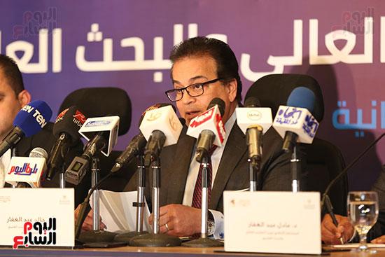مؤتمر وزير التعليم العالى لإعلان استراتيجية المنتدى العالمى للتعليم (9)