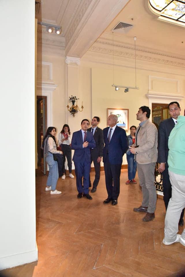 السيد أحمد أبو الغيط يزور معرض فاروق حسنى (7)