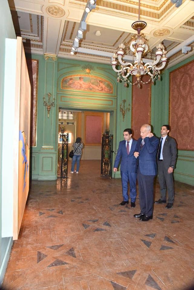 السيد أحمد أبو الغيط يزور معرض فاروق حسنى (8)