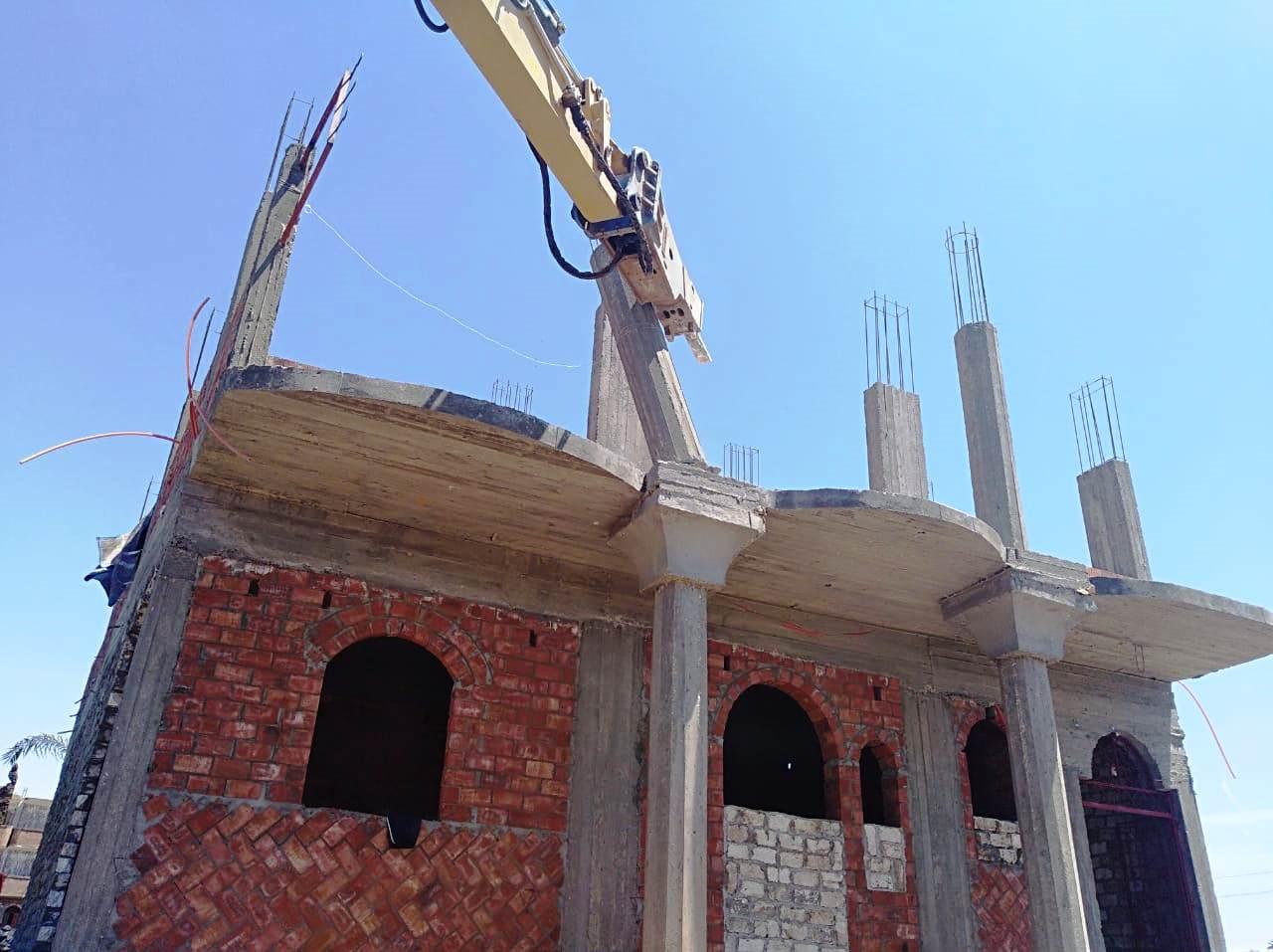 استمرار حملات إزالة مخالفات البناء والتعدي على الارض الزراعية بمراكز المحافظة (16)