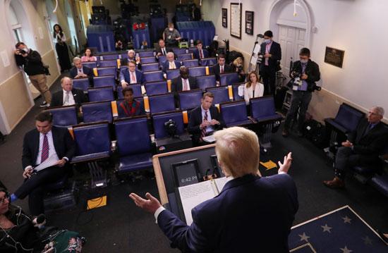 جانب من المؤتمر الصحفى لترامب