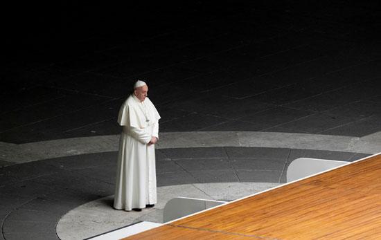 البابا فرانسيس خلال المراسم