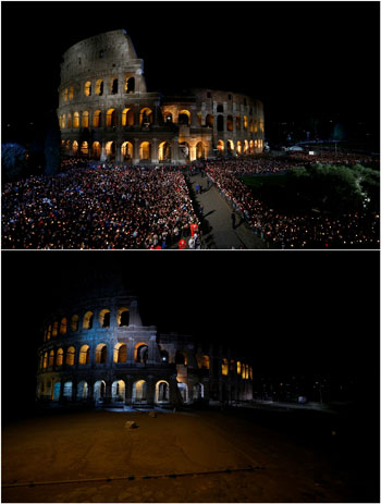 صورة توضح الفارق بين حضور مراسم الجمعة العظيمة سابقا واليوم
