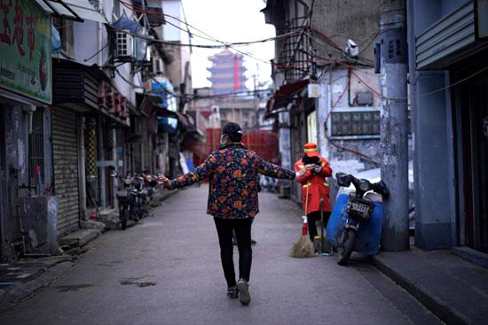 أحد شوارع ووهان