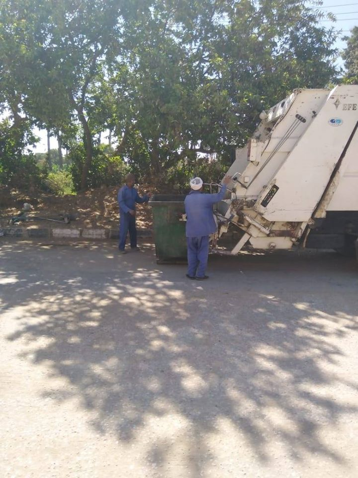 1 رفع 540 طن مخلفات صلبة على مدار أسبوع فى مدينة البياضية