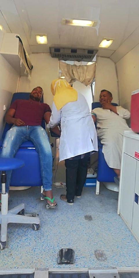 1 حملات لأهالى القرنة للتبرع بالدم بالأقصر