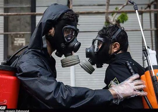 الحرس الثورى يعقم طهران