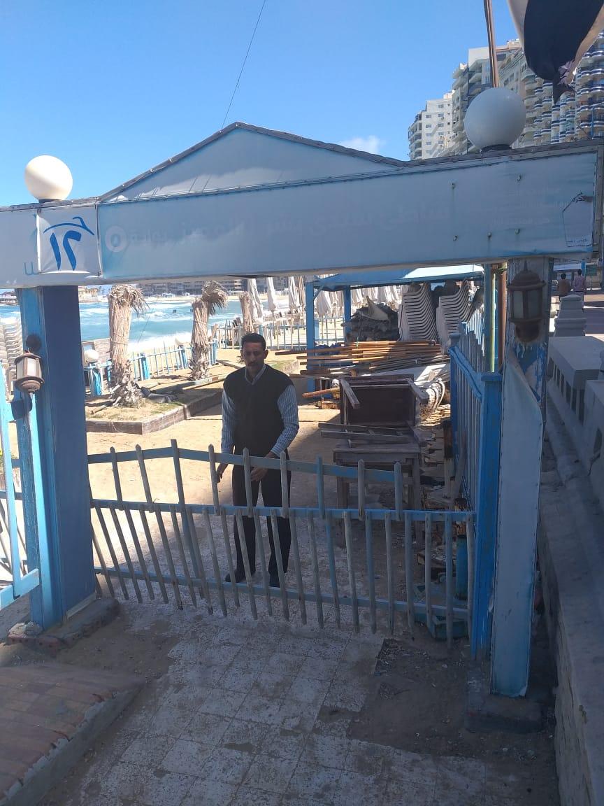 غلق شواطئ الاسكندرية