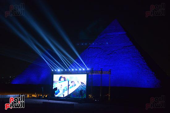 احتفالات يوم التراث العالمى امام سفح الاهرامات