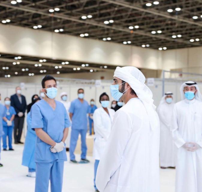 ولى عهد دبى يفتتح المستشفى الميداني لعزيز قدرات مواجهة فيروس كورونا  (3)