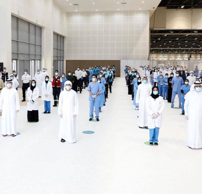 ولى عهد دبى يفتتح المستشفى الميداني لعزيز قدرات مواجهة فيروس كورونا  (5)