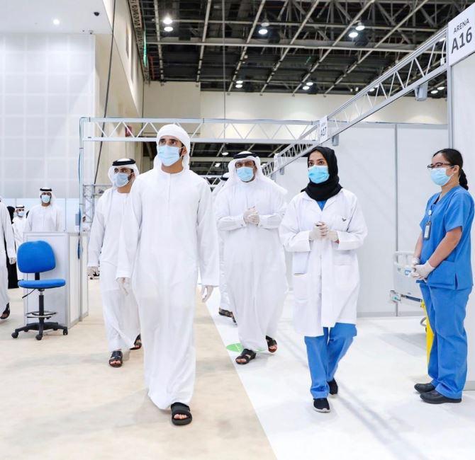 ولى عهد دبى يفتتح المستشفى الميداني لعزيز قدرات مواجهة فيروس كورونا  (1)