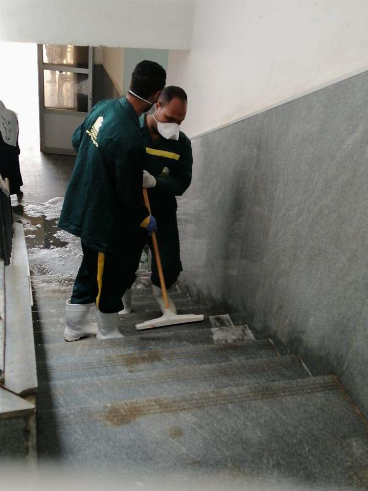 1 رش وتعقيم مستشفى الحميات بمحافظة الأقصر