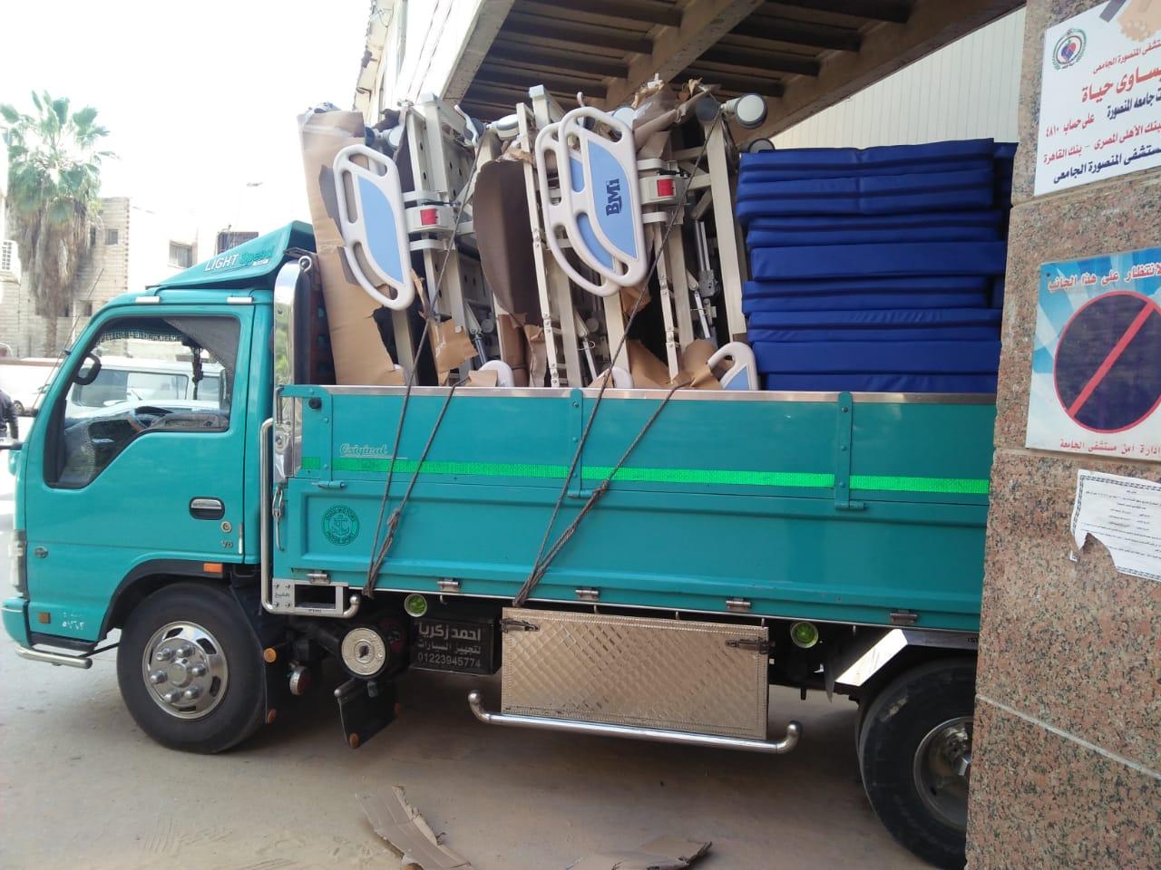 أجهزة عناية مركزة جديدة وإسعاف لمستشفى جامعة المنصورة (6)