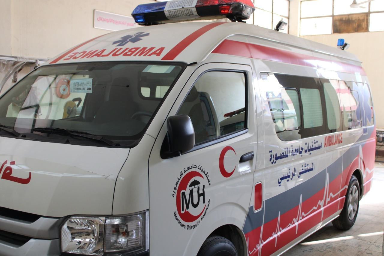 أجهزة عناية مركزة جديدة وإسعاف لمستشفى جامعة المنصورة (1)