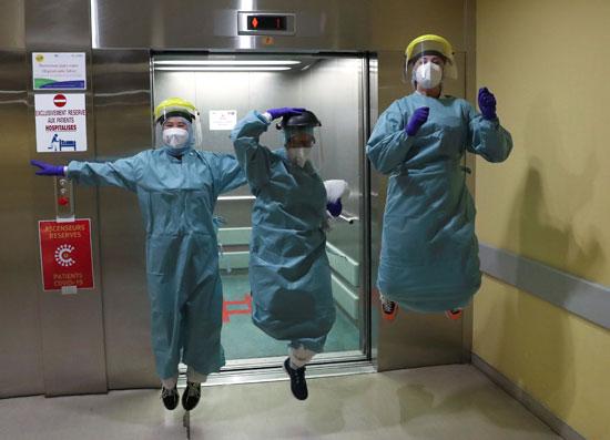 عاملون طبيون فى بلجيكا