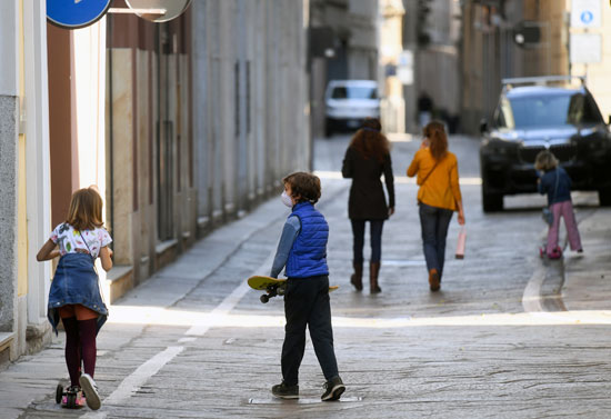 أحد شوارع ميلانو الإيطالية