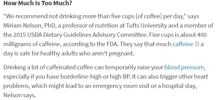 القهوة وارفاع ضغط الدم