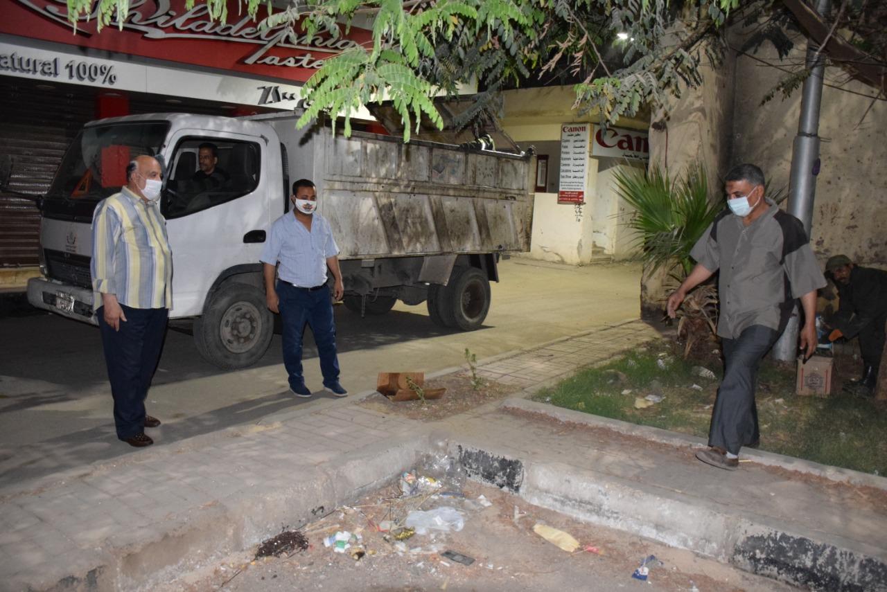 متابعة حملات النظافة ورفع الإشغالات بشوارع الأقصر