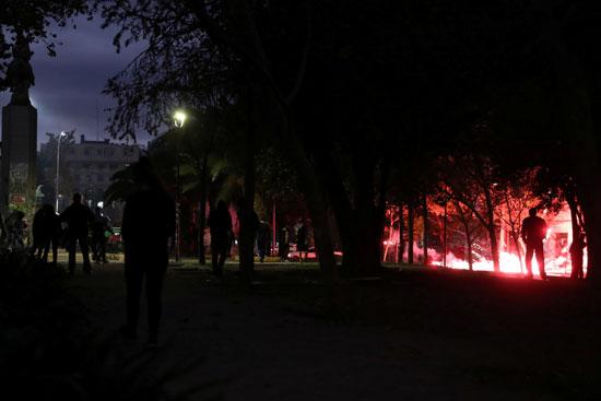 جانب من أعمال العنف فى تشيلى