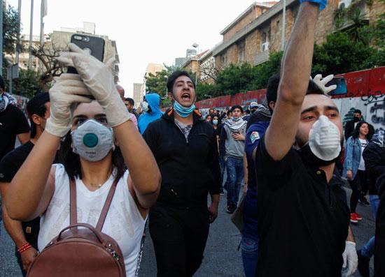 مسيرة احتجاجية فى لبنان